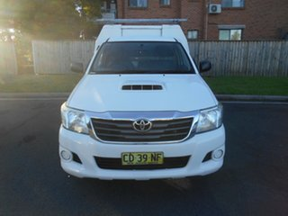 2015 Toyota Hilux KUN16R MY14 SR White 5 Speed Manual Cab Chassis