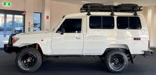 2013 Toyota Landcruiser VDJ78R MY13 Workmate Troopcarrier White 5 Speed Manual Wagon