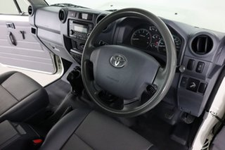 2018 Toyota Landcruiser VDJ79R GX (4x4) White 5 Speed Manual Cab Chassis