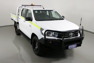 2016 Toyota Hilux GUN126R SR (4x4) White 6 Speed Automatic Dual Cab Chassis