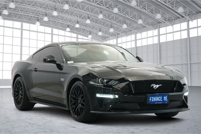 Used Ford Mustang FN 2019MY GT Victoria Park, 2018 Ford Mustang FN 2019MY GT Black 10 Speed Sports Automatic Fastback