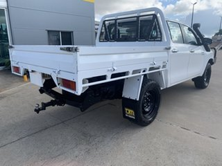 2017 Toyota Hilux GUN126R SR Double Cab White/250517 6 Speed Sports Automatic Cab Chassis.