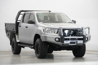 2020 Toyota Hilux GUN126R SR Double Cab Silver 6 Speed Manual Cab Chassis