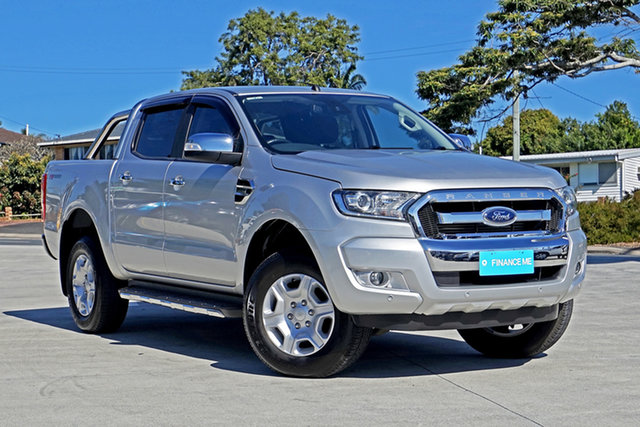 Used Ford Ranger PX MkII 2018.00MY XLT Double Cab 4x2 Hi-Rider Capalaba, 2018 Ford Ranger PX MkII 2018.00MY XLT Double Cab 4x2 Hi-Rider Ingot Silver 6 Speed Manual Utility
