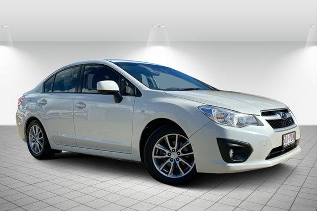 Used Subaru Impreza G4 MY14 2.0i Lineartronic AWD Hervey Bay, 2014 Subaru Impreza G4 MY14 2.0i Lineartronic AWD White 6 Speed Constant Variable Sedan