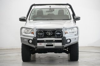 2020 Toyota Hilux GUN126R SR Double Cab Silver 6 Speed Manual Cab Chassis.