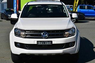 2011 Volkswagen Amarok 2H MY12 TDI400 Highline (4x4) White 6 Speed Manual Dual Cab Utility.
