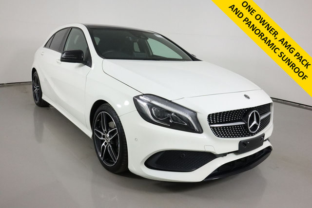Used Mercedes-Benz A200 176 MY17.5 Bentley, 2017 Mercedes-Benz A200 176 MY17.5 White 7 Speed Automatic Hatchback