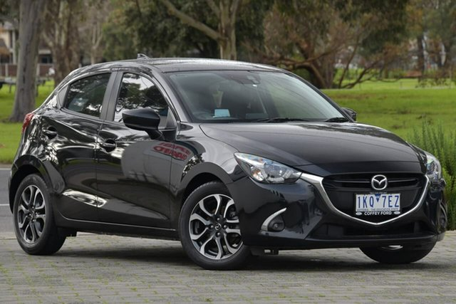Used Mazda 2 DJ2HAA Genki SKYACTIV-Drive Dandenong, 2017 Mazda 2 DJ2HAA Genki SKYACTIV-Drive Black 6 Speed Sports Automatic Hatchback