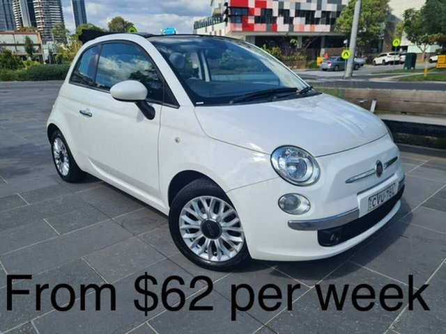 Used Fiat 500C Series 1 Lounge Dualogic South Melbourne, 2014 Fiat 500C Series 1 Lounge Dualogic White 5 Speed Sports Automatic Single Clutch Convertible
