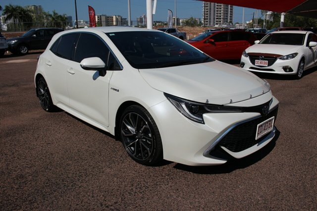 Pre-Owned Toyota Corolla ZWE211R ZR E-CVT Hybrid Darwin, 2018 Toyota Corolla ZWE211R ZR E-CVT Hybrid Crystal Pearl 10 Speed Constant Variable Hatchback