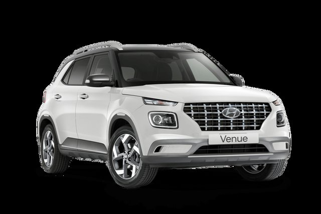 New Hyundai Venue QX.V3 MY21 Elite Cardiff, 2021 Hyundai Venue QX.V3 MY21 Elite Polar White 6 Speed Automatic Wagon