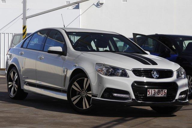 Used Holden Commodore VF MY15 SV6 Storm Bundamba, 2015 Holden Commodore VF MY15 SV6 Storm White 6 Speed Sports Automatic Sedan
