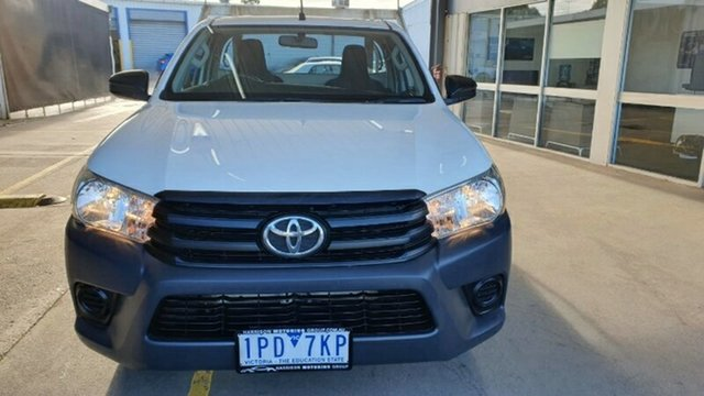 Used Toyota Hilux TGN121R Workmate 4x2 Melton, 2019 Toyota Hilux TGN121R Workmate 4x2 White 6 Speed Sports Automatic Cab Chassis