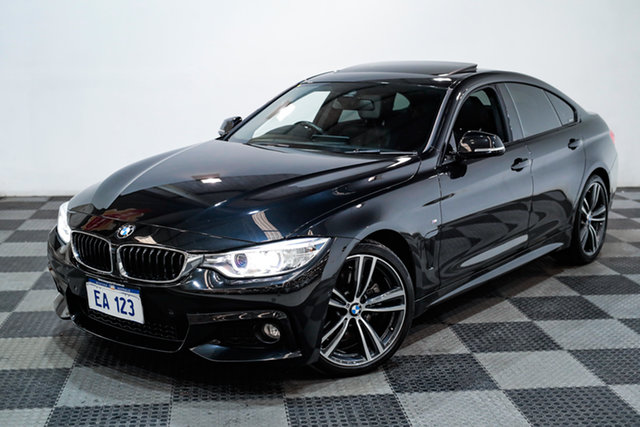 Used BMW 4 Series F36 430i Gran Coupe M Sport Edgewater, 2016 BMW 4 Series F36 430i Gran Coupe M Sport Black/Grey 8 Speed Sports Automatic Hatchback