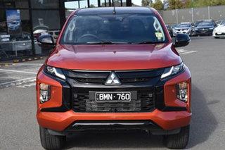 2021 Mitsubishi Triton MR MY21 GSR Double Cab Sunflare Orange 6 Speed Sports Automatic Utility.