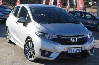 2015 Honda Jazz GF MY16 VTi-L Alabaster Silver 1 Speed Constant Variable Hatchback.