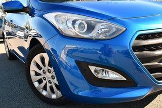 2016 Hyundai i30 GD4 Series II MY17 Active Blue 6 Speed Manual Hatchback.