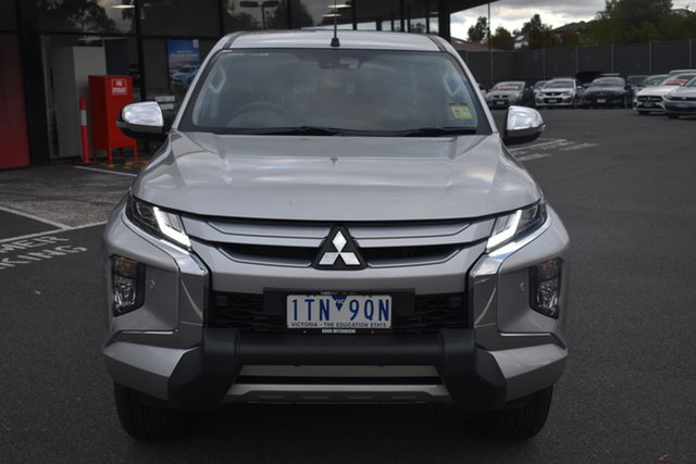 Demo Mitsubishi Triton MR MY21 GLS Double Cab Wantirna South, 2021 Mitsubishi Triton MR MY21 GLS Double Cab Sterling Silver 6 Speed Sports Automatic Utility