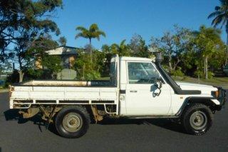 1997 Toyota Landcruiser HZJ75RP White 5 Speed Manual Cab Chassis.
