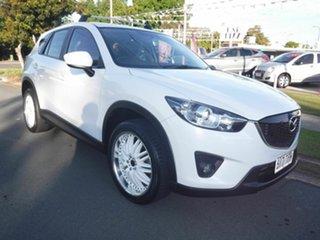 2013 Mazda CX-5 White 5 Speed Automatic Wagon.