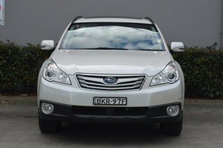 2009 Subaru Outback B5A MY10 2.5i Lineartronic AWD Premium White 6 Speed Constant Variable Wagon.