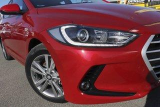 2017 Hyundai Elantra AD MY17 Active Fiery Red 6 Speed Sports Automatic Sedan.