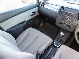 2006 Nissan Tiida C11 ST Alabaster Silver 4 Speed Automatic Hatchback.