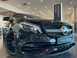 2016 Mercedes-Benz A-Class W176 807MY A45 AMG SPEEDSHIFT DCT 4MATIC Black 7 Speed.
