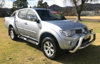 2012 Mitsubishi Triton MN MY12 GLX-R Double Cab Silver 5 Speed Sports Automatic Utility.