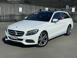 2016 Mercedes-Benz C-Class S205 807MY C200 Estate 7G-Tronic + White 7 Speed Sports Automatic Wagon.
