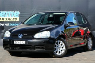2007 Volkswagen Golf V MY07 Comfortline Tiptronic Black 6 Speed Sports Automatic Hatchback.