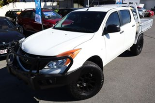 2013 Mazda BT-50 UP0YF1 XT White 6 Speed Manual Cab Chassis.