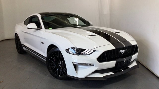 Used Ford Mustang FN 2019MY GT Elizabeth, 2018 Ford Mustang FN 2019MY GT White 10 Speed Sports Automatic Fastback