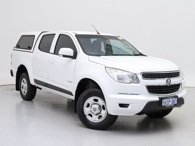 Used Holden Colorado RG MY14 LX (4x2), 2014 Holden Colorado RG MY14 LX (4x2) White 6 Speed Automatic Crew Cab Chassis