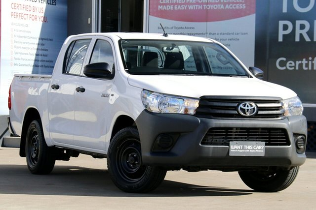 Pre-Owned Toyota Hilux TGN121R Workmate Double Cab 4x2 Guildford, 2017 Toyota Hilux TGN121R Workmate Double Cab 4x2 Glacier White 6 Speed Automatic Dual Cab