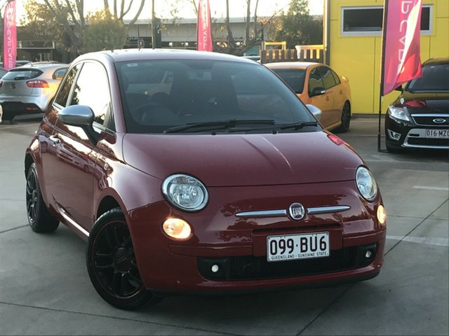 Used Fiat 500 Series 1 Toowoomba, 2012 Fiat 500 Series 1 Red 5 Speed Manual Hatchback