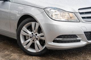 2014 Mercedes-Benz C-Class W204 MY14 C200 7G-Tronic + Iridium Silver 7 Speed Sports Automatic Sedan.