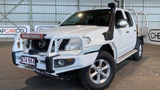 2012 Nissan Navara D40 S5 MY12 ST-X 550 White 7 Speed Sports Automatic Utility.