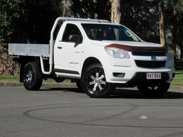 Used Holden Colorado RG MY13 DX, 2013 Holden Colorado RG MY13 DX White 5 Speed Manual Cab Chassis