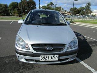 2011 Hyundai Getz TB MY09 SX Silver 4 Speed Automatic Hatchback.