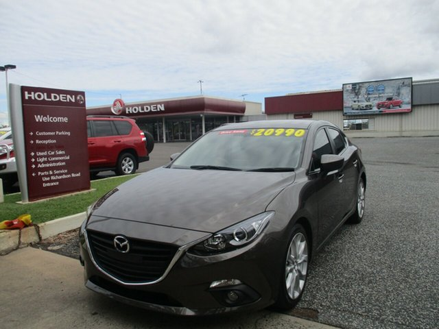 Used Mazda 3 BM5238 SP25 SKYACTIV-Drive North Rockhampton, 2014 Mazda 3 BM5238 SP25 SKYACTIV-Drive Grey 6 Speed Sports Automatic Sedan