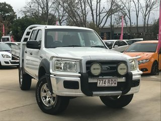 2008 Ford Ranger PJ XL Crew Cab White 5 Speed Manual Cab Chassis.
