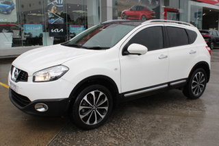 2012 Nissan Dualis J10W Series 3 MY12 Ti-L X-tronic AWD White 6 Speed Constant Variable Hatchback.