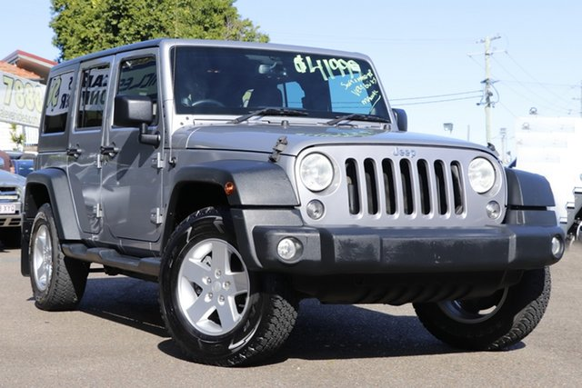 Used Jeep Wrangler JK MY2013 Unlimited Sport Moorooka, 2013 Jeep Wrangler JK MY2013 Unlimited Sport Silver 6 Speed Manual Softtop