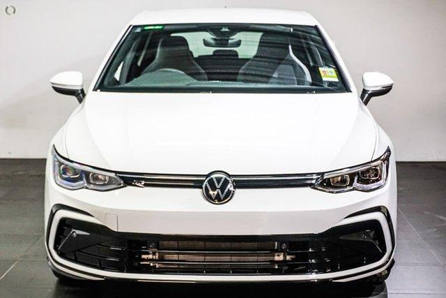 Demo Volkswagen Golf 8 MY21 110TSI R-Line Botany, 2021 Volkswagen Golf 8 MY21 110TSI R-Line White 8 Speed Sports Automatic Hatchback