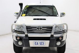 2013 Toyota Hilux KUN26R MY12 SR5 Double Cab White 4 Speed Automatic Utility.