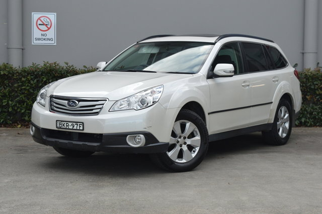 Used Subaru Outback B5A MY10 2.5i Lineartronic AWD Premium Maitland, 2009 Subaru Outback B5A MY10 2.5i Lineartronic AWD Premium White 6 Speed Constant Variable Wagon