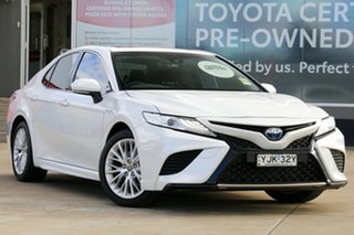 2019 Toyota Camry AXVH71R Hybrid Frosted White 6 Speed Constant Variable Sedan.