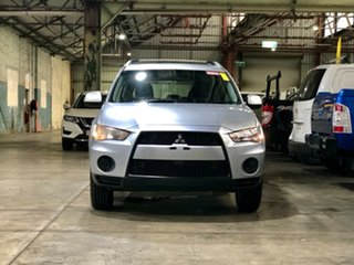 2010 Mitsubishi Outlander ZH MY10 LS Silver 6 Speed Constant Variable Wagon.